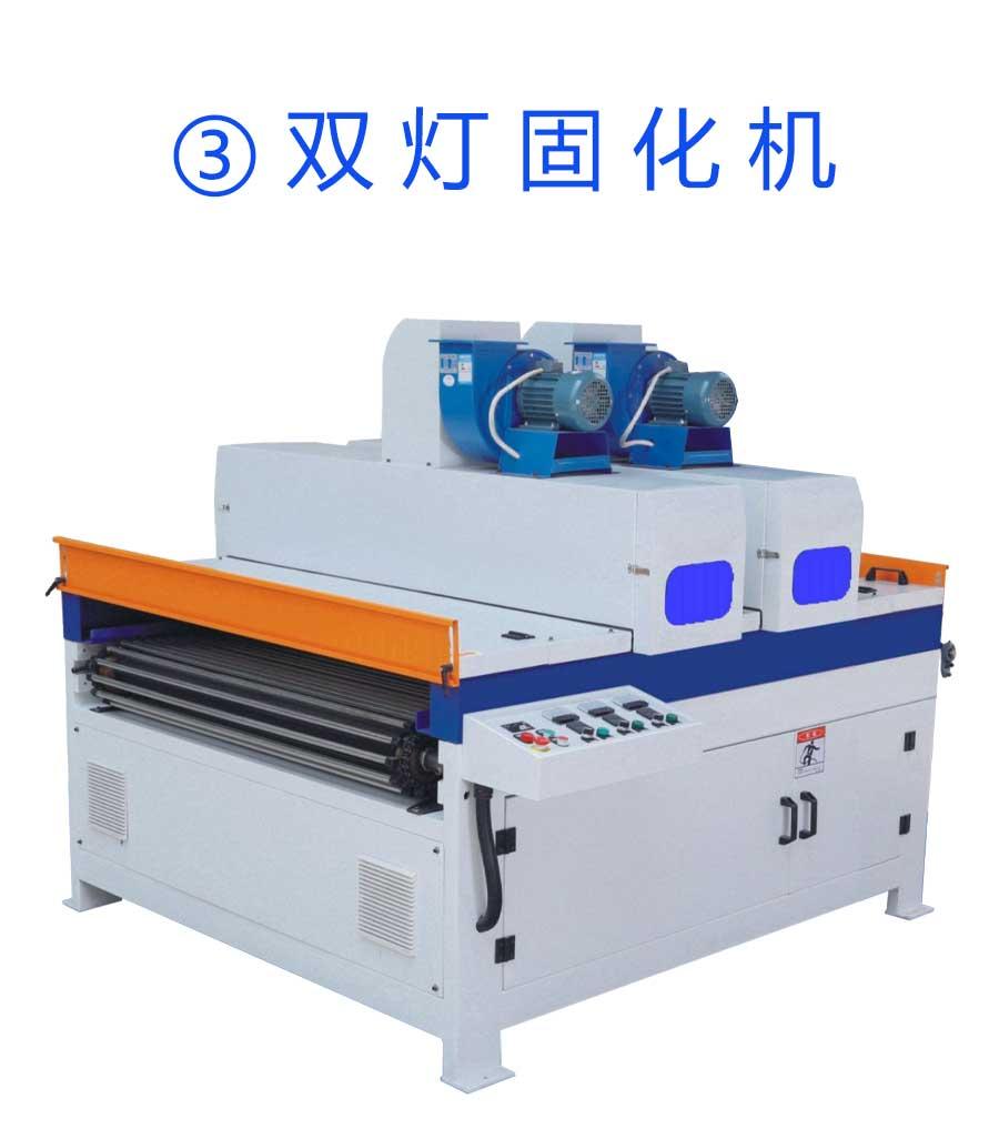 月产1.5万方淋涂生产线配套双灯固化机