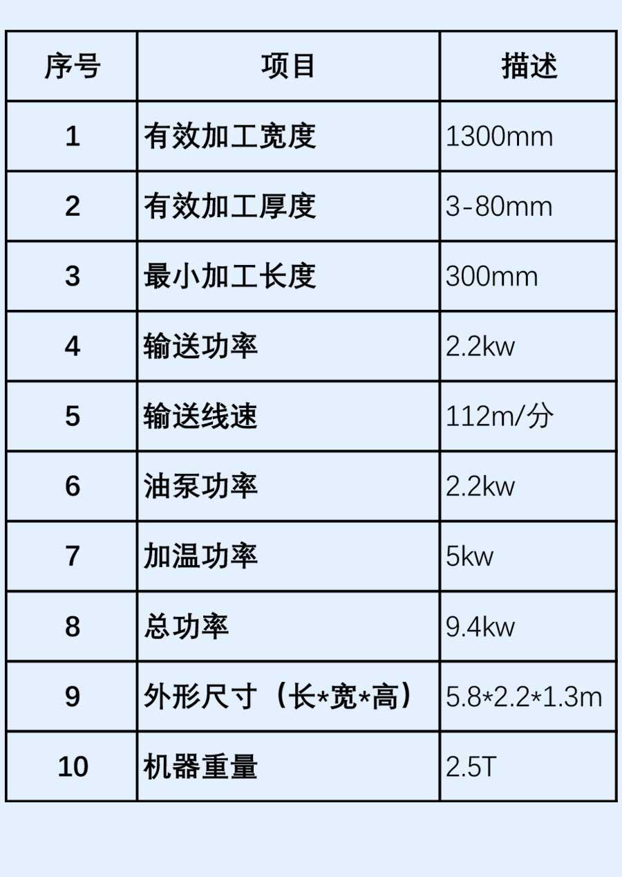 竹木纤维板生产线淋涂机参数
