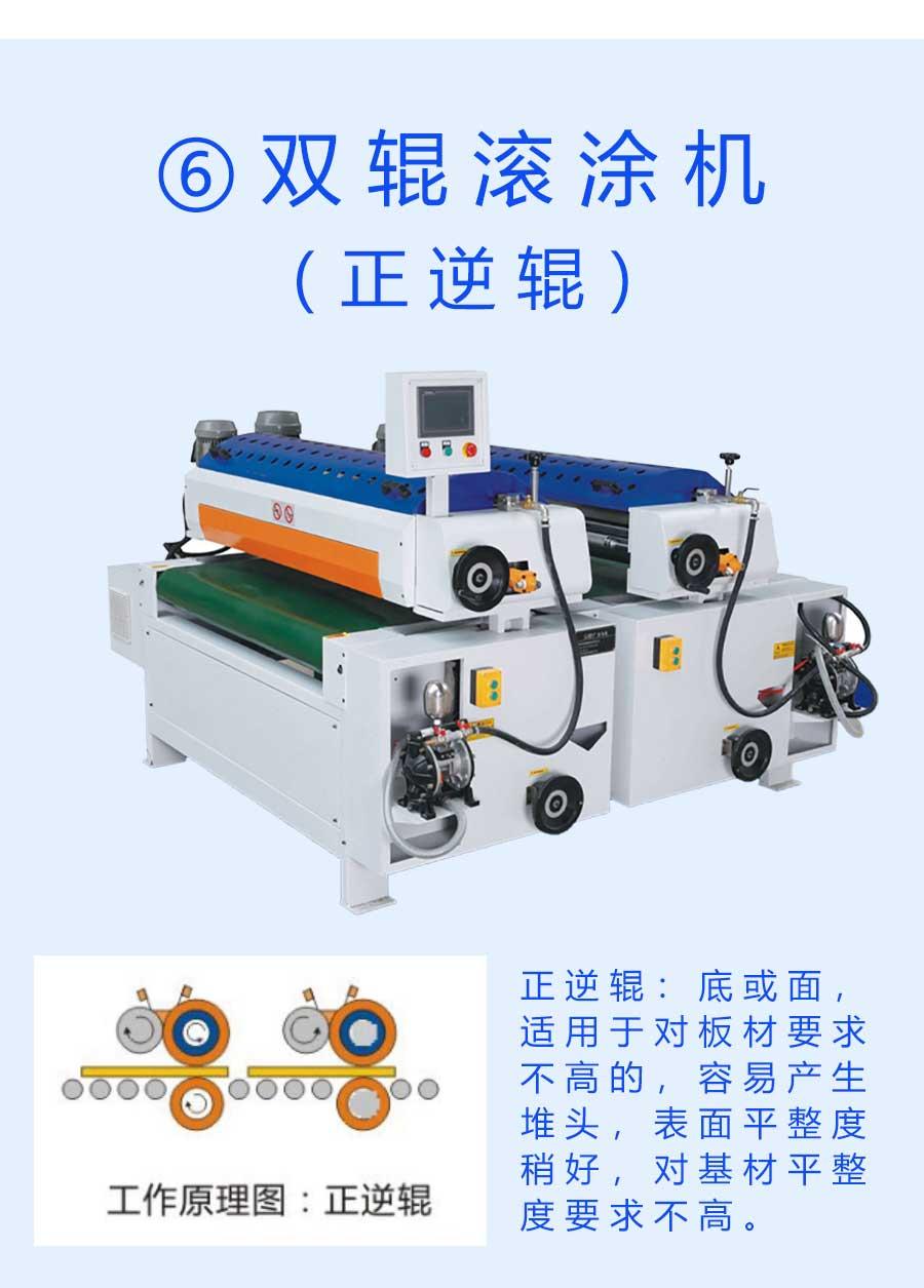 pvc光油机配套双辊滚涂机(正逆辊)