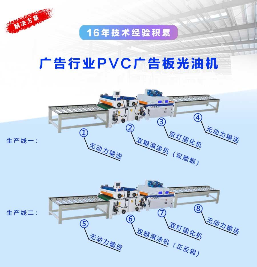 广告行业pvc广告板(雪弗板)光油机
