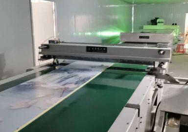 竹木纤维板UV淋涂机生产线